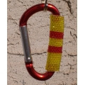 Red/Yellow Beaded Carabiner