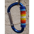 Fire Colored Beaded Carabiner
