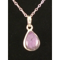 Drop Shaped Sugilite Pendant