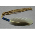 Blue/Green Small Beaded Feather