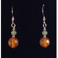 Carnelian and Adventurine Earrings